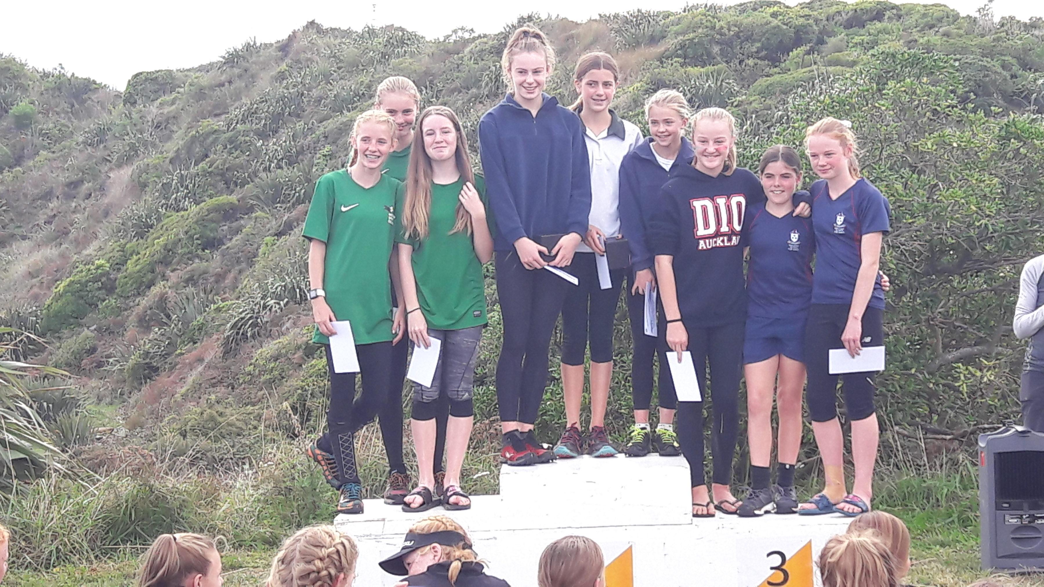 Junior Girls Relay North Island 2018