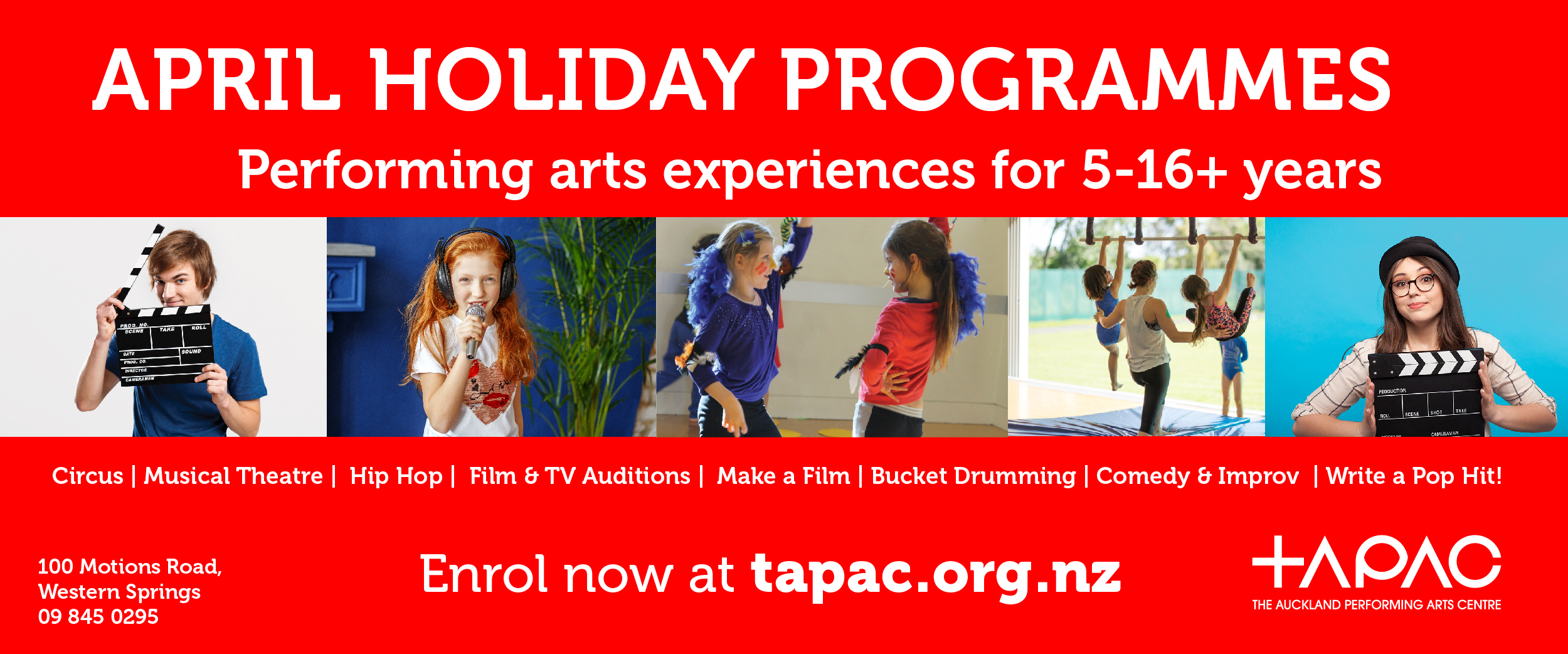 TAPAC April Holiday Programme All Ages