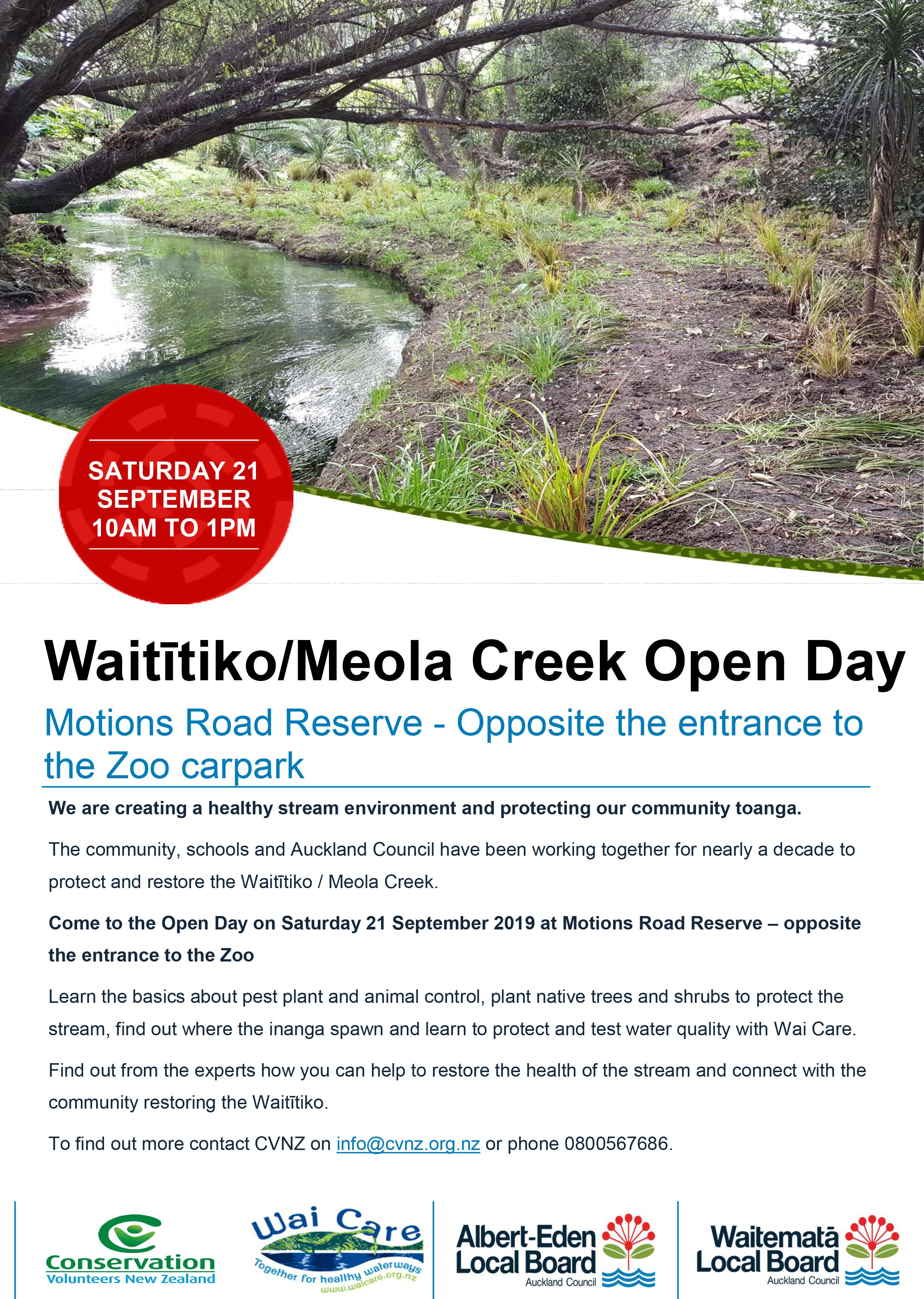Microsoft Word – Meola Creek Open Day Flyer