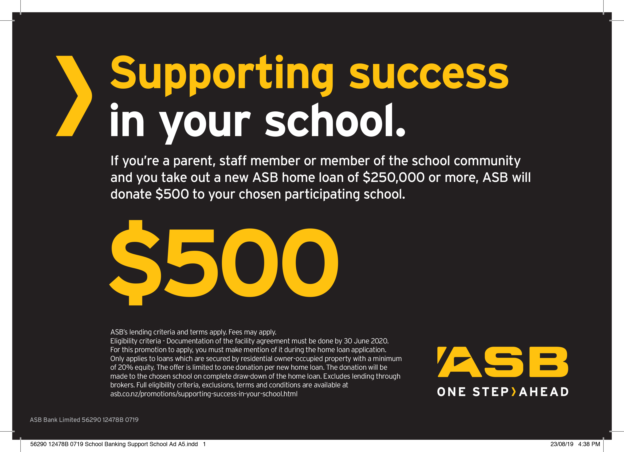 Supporting Success at Springs – $500.00!