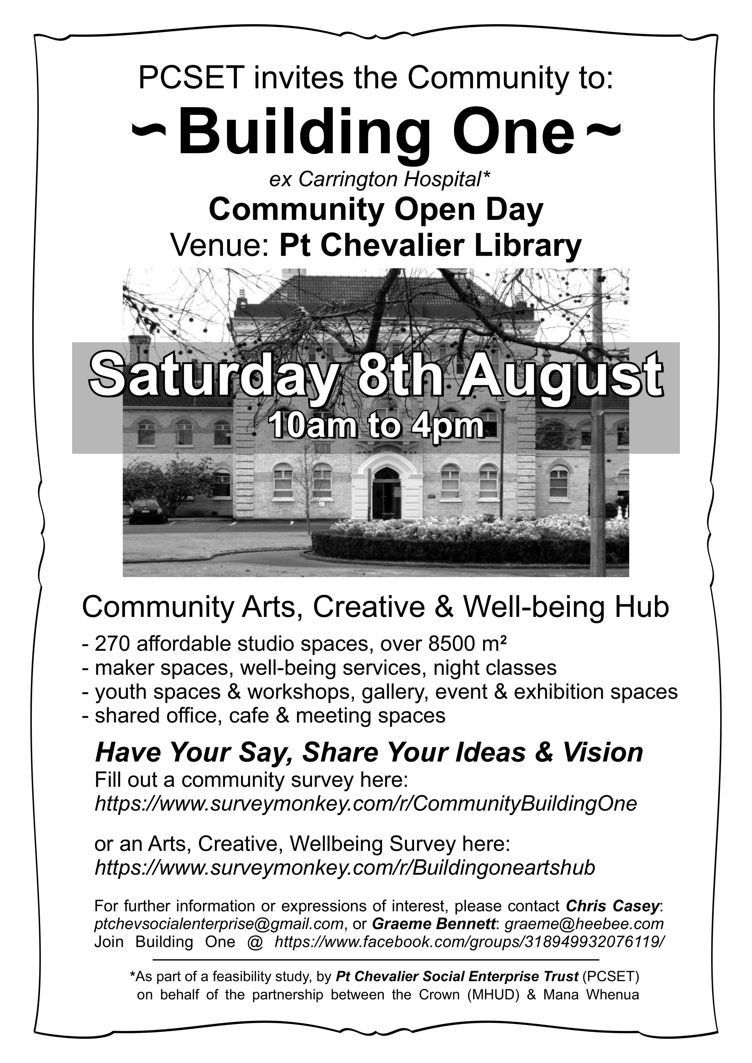 Community Arts, Creative & Well-being Hub