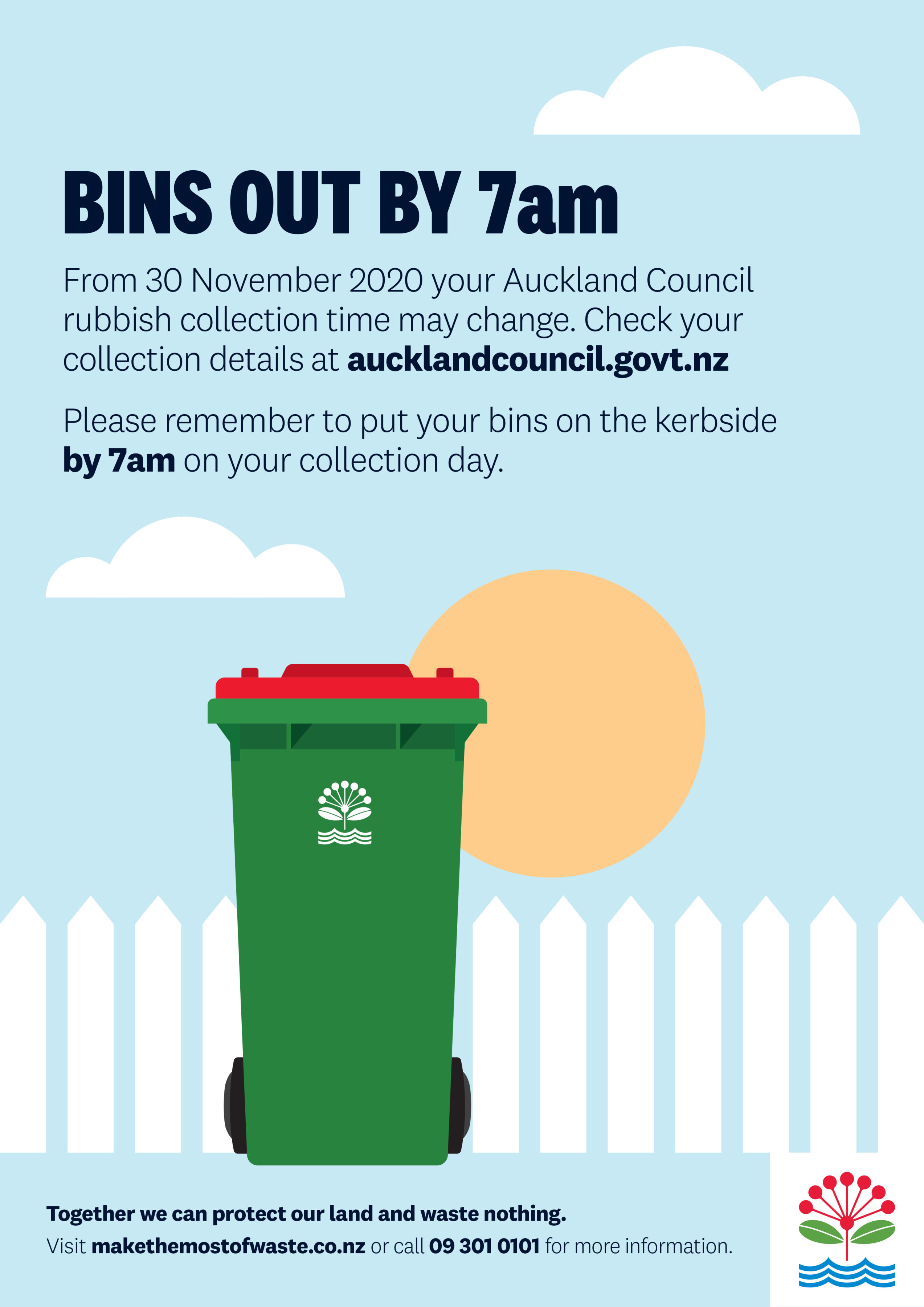 Rubbish Collection Changes – A3 Poster